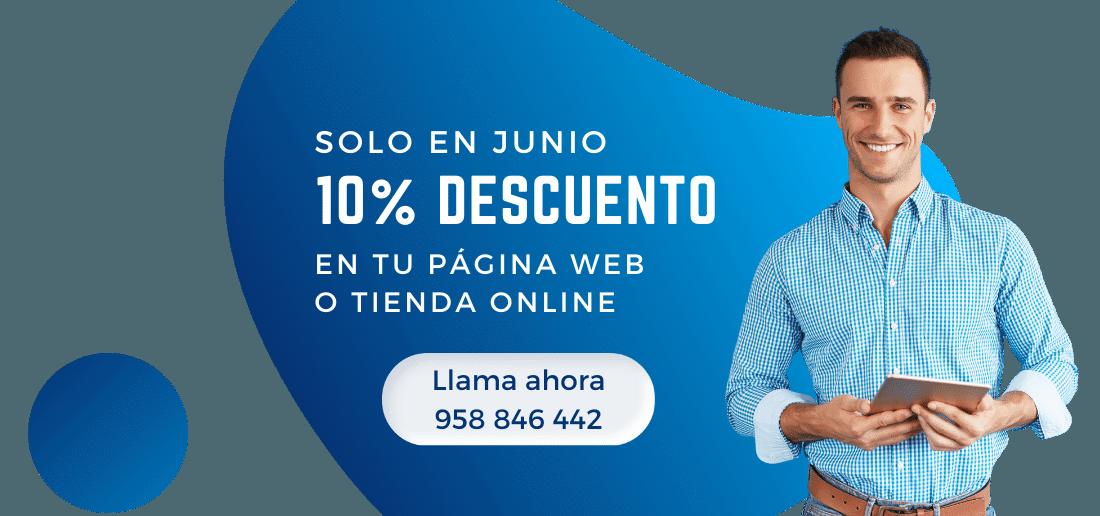Oferta 10% decuento en diseño de paginas web junio 2021
